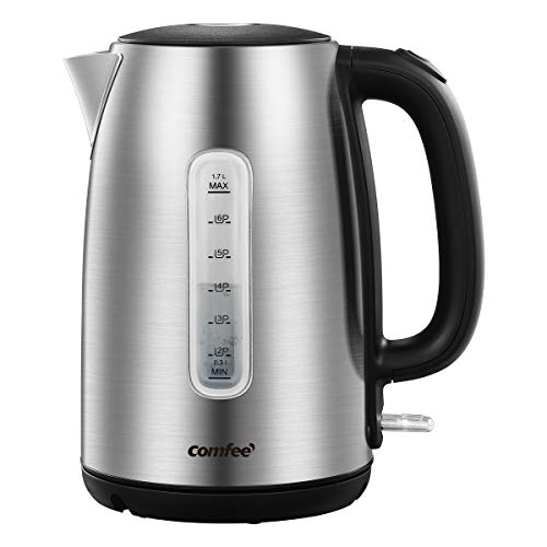 COMFEE stainless steel cordless electric kettle