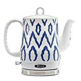 BELLA (13724) 1.2 Liter Electric Tea Kettle, Blue Aztec