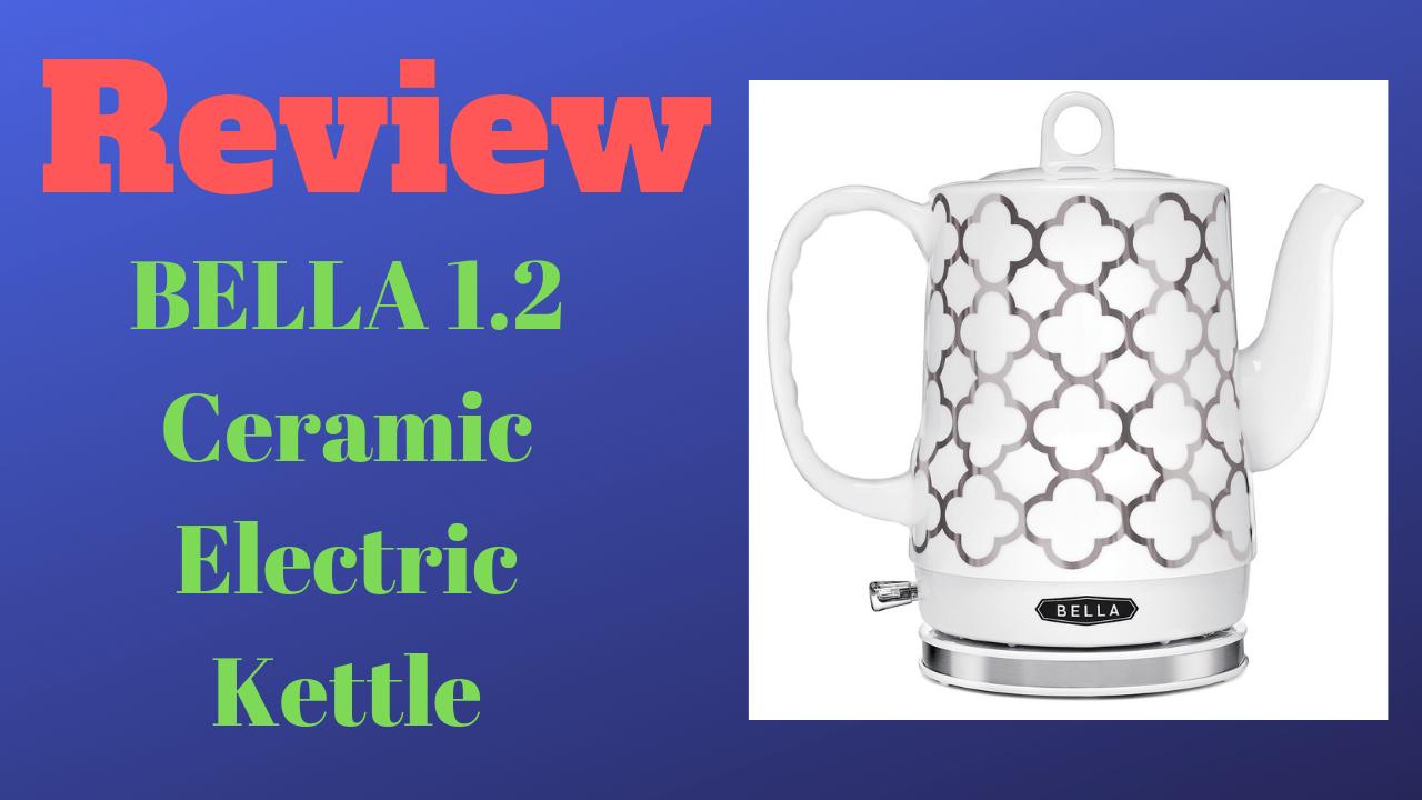 Silver Tile BELLA 14522 1.2 Liter Electric Ceramic Tea Kettle with Detachable Base /& Boil Dry Protection